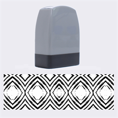 Black White Diamond Pattern Name Stamps by Costasonlineshop