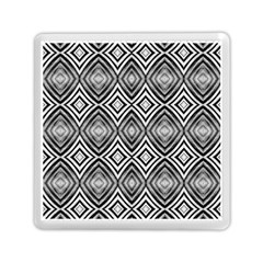 Black White Diamond Pattern Memory Card Reader (square)  by Costasonlineshop