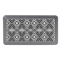 Black White Diamond Pattern Memory Card Reader (mini) by Costasonlineshop