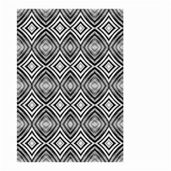Black White Diamond Pattern Small Garden Flag (two Sides) by Costasonlineshop