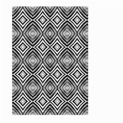 Black White Diamond Pattern Large Garden Flag (two Sides) by Costasonlineshop