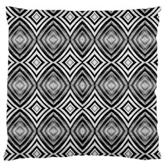 Black White Diamond Pattern Large Flano Cushion Cases (Two Sides)  by Costasonlineshop