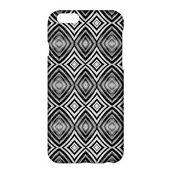 Black White Diamond Pattern Apple Iphone 6 Plus/6s Plus Hardshell Case by Costasonlineshop