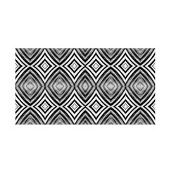 Black White Diamond Pattern Satin Wrap