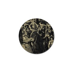 Group Of Candombe Drummers At Carnival Parade Of Uruguay Golf Ball Marker by dflcprints