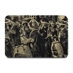 Group Of Candombe Drummers At Carnival Parade Of Uruguay Plate Mats by dflcprints