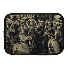 Group Of Candombe Drummers At Carnival Parade Of Uruguay Netbook Case (medium)  by dflcprints