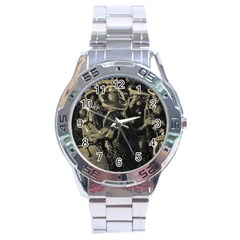 Group Of Candombe Drummers At Carnival Parade Of Uruguay Stainless Steel Men s Watch by dflcprints