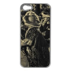 Group Of Candombe Drummers At Carnival Parade Of Uruguay Apple Iphone 5 Case (silver) by dflcprints