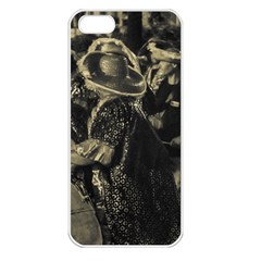 Group Of Candombe Drummers At Carnival Parade Of Uruguay Apple Iphone 5 Seamless Case (white) by dflcprints
