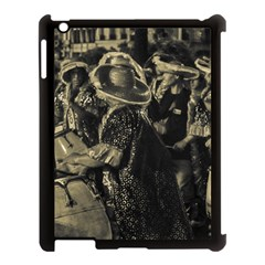 Group Of Candombe Drummers At Carnival Parade Of Uruguay Apple Ipad 3/4 Case (black) by dflcprints