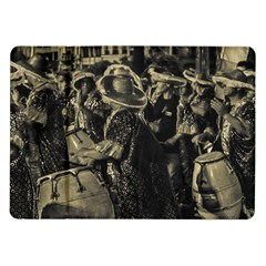 Group Of Candombe Drummers At Carnival Parade Of Uruguay Samsung Galaxy Tab 10 1  P7500 Flip Case by dflcprints