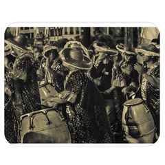 Group Of Candombe Drummers At Carnival Parade Of Uruguay Double Sided Flano Blanket (medium)  by dflcprints