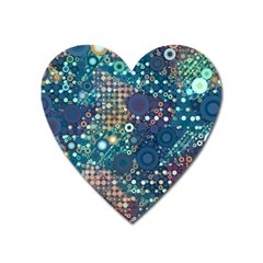 Blue Bubbles Heart Magnet by KirstenStar