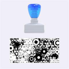 Blue Bubbles Rubber Stamps (medium)