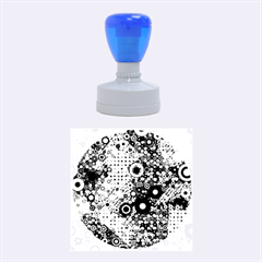 Blue Bubbles Rubber Round Stamps (medium) by KirstenStar