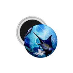 Awersome Marlin In A Fantasy Underwater World 1 75  Magnets by FantasyWorld7