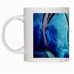 Awersome Marlin In A Fantasy Underwater World White Mugs by FantasyWorld7