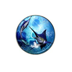 Awersome Marlin In A Fantasy Underwater World Hat Clip Ball Marker by FantasyWorld7