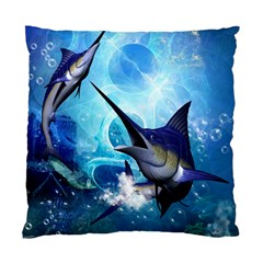 Awersome Marlin In A Fantasy Underwater World Standard Cushion Cases (two Sides)  by FantasyWorld7