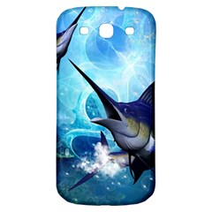 Awersome Marlin In A Fantasy Underwater World Samsung Galaxy S3 S Iii Classic Hardshell Back Case by FantasyWorld7