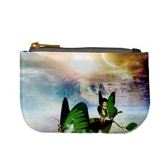 Cute Fairy In A Butterflies Boat In The Night Mini Coin Purses by FantasyWorld7