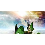 Cute Fairy In A Butterflies Boat In The Night MOM 3D Greeting Card (8x4)  Back
