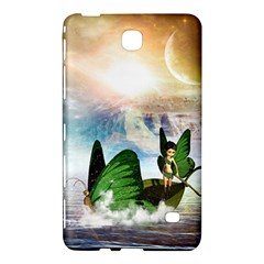 Cute Fairy In A Butterflies Boat In The Night Samsung Galaxy Tab 4 (7 ) Hardshell Case  by FantasyWorld7