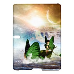 Cute Fairy In A Butterflies Boat In The Night Samsung Galaxy Tab S (10.5 ) Hardshell Case  by FantasyWorld7