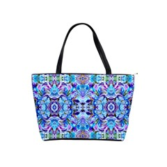 Elegant Turquoise Blue Flower Pattern Shoulder Handbags by Costasonlineshop