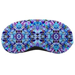 Elegant Turquoise Blue Flower Pattern Sleeping Masks by Costasonlineshop