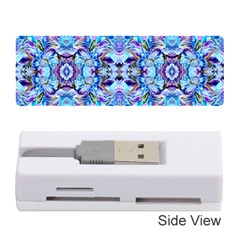 Elegant Turquoise Blue Flower Pattern Memory Card Reader (stick)  by Costasonlineshop