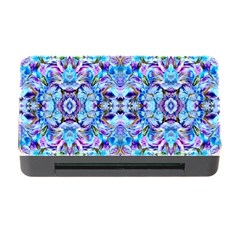 Elegant Turquoise Blue Flower Pattern Memory Card Reader With Cf by Costasonlineshop
