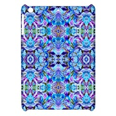 Elegant Turquoise Blue Flower Pattern Apple Ipad Mini Hardshell Case