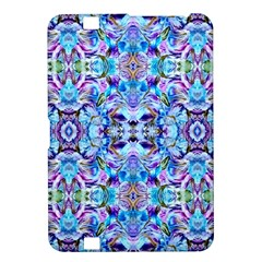 Elegant Turquoise Blue Flower Pattern Kindle Fire HD 8.9  by Costasonlineshop