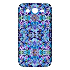 Elegant Turquoise Blue Flower Pattern Samsung Galaxy Mega 5 8 I9152 Hardshell Case  by Costasonlineshop