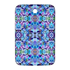 Elegant Turquoise Blue Flower Pattern Samsung Galaxy Note 8 0 N5100 Hardshell Case  by Costasonlineshop