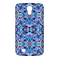 Elegant Turquoise Blue Flower Pattern Samsung Galaxy Mega 6 3  I9200 Hardshell Case by Costasonlineshop
