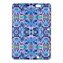 Elegant Turquoise Blue Flower Pattern Kindle Fire Hdx 8 9  Hardshell Case by Costasonlineshop