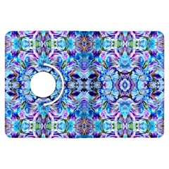 Elegant Turquoise Blue Flower Pattern Kindle Fire Hdx Flip 360 Case by Costasonlineshop