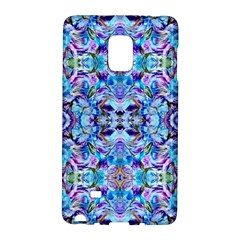 Elegant Turquoise Blue Flower Pattern Galaxy Note Edge by Costasonlineshop