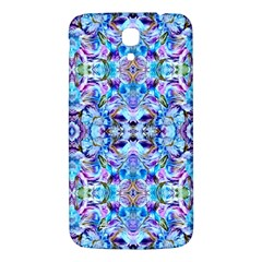 Elegant Turquoise Blue Flower Pattern Samsung Galaxy Mega I9200 Hardshell Back Case by Costasonlineshop