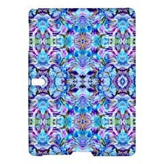 Elegant Turquoise Blue Flower Pattern Samsung Galaxy Tab S (10 5 ) Hardshell Case  by Costasonlineshop