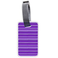 Purple Tribal Pattern Luggage Tags (two Sides) by KirstenStar
