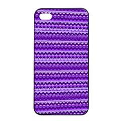 Purple Tribal Pattern Apple Iphone 4/4s Seamless Case (black) by KirstenStar