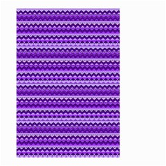 Purple Tribal Pattern Small Garden Flag (two Sides) by KirstenStar