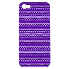 Purple Tribal Pattern Apple Iphone 5 Hardshell Case by KirstenStar