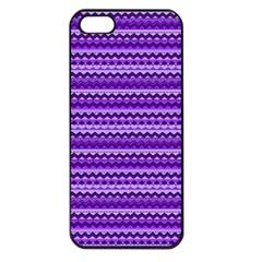 Purple Tribal Pattern Apple Iphone 5 Seamless Case (black) by KirstenStar