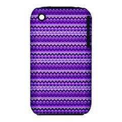 Purple Tribal Pattern Apple Iphone 3g/3gs Hardshell Case (pc+silicone) by KirstenStar