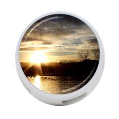Setting Sun At Lake 4 Port Usb Hub (two Sides)  by trendistuff
